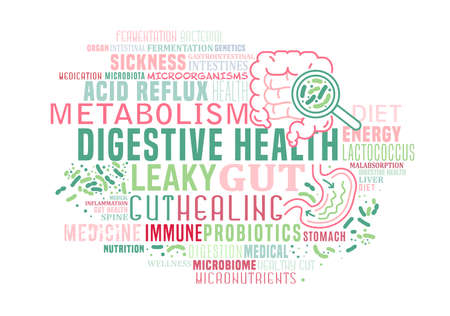 World digestive health day in may. Gut healing problem.
