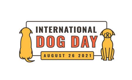 International dog day logo. Celebration of dogs.