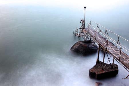 bridge over water: bridge over water Stock Photo