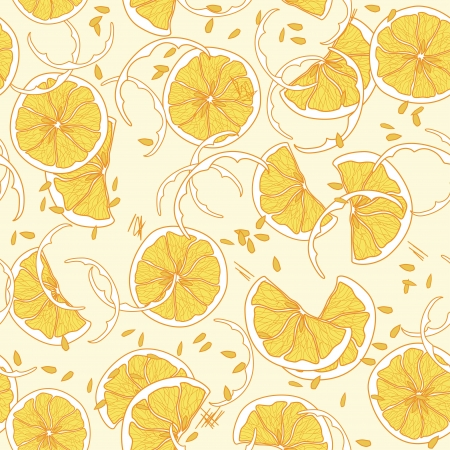 Seamless pattern with juicy orange Stock Vector - 17980776
