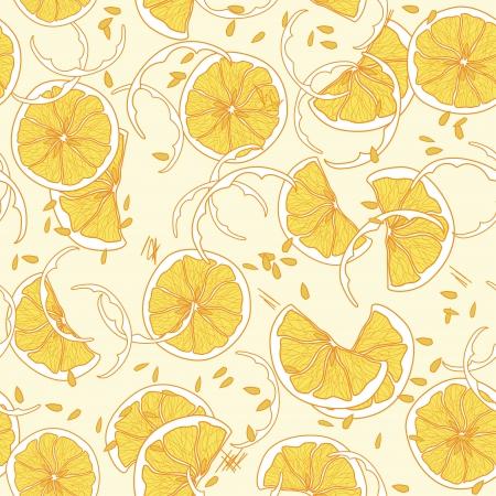 leavings: Seamless pattern with juicy orange