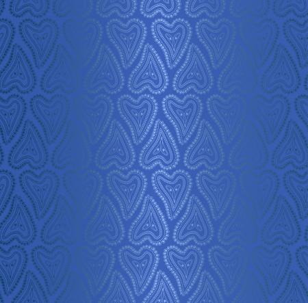 Seamless pattern of blue silk fabric (wallpaper) Vector