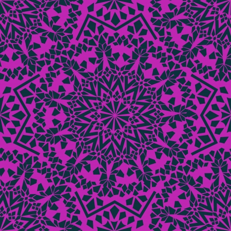 Seamless pattern of purple Moroccan mosaic Vector