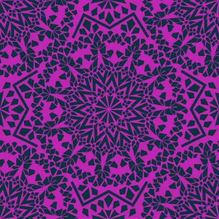 Seamless pattern of purple Moroccan mosaic Stock Vector - 19969742