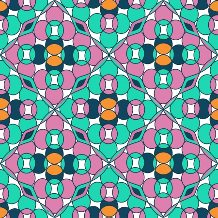 Seamless pattern of colorful Moroccan mosaic Vector