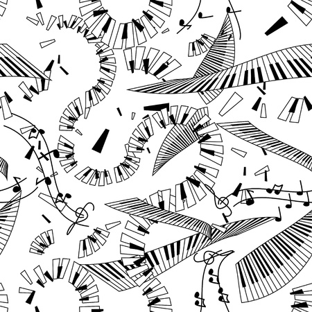Abstract seamless pattern of keyboards Vector