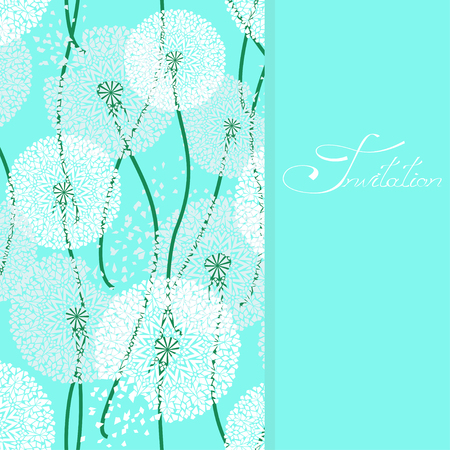 winterly: Background with air lacy dandelions Illustration