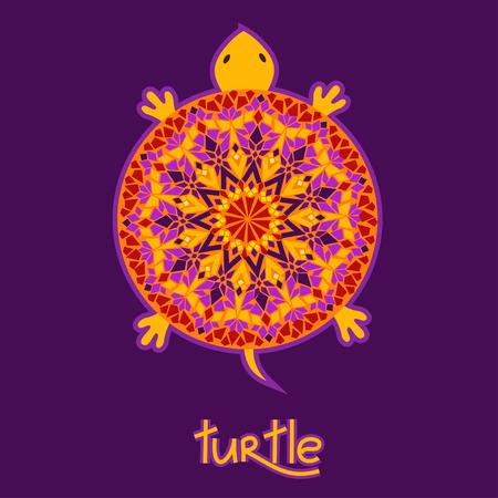 conchas: Antecedentes con la tortuga y la c�scara hecha de �frica patr�n Vectores