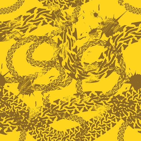 tire tread: Grunge seamless pattern of tire tracks