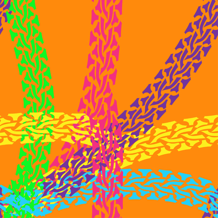 snaky: Seamless pattern of colorful tire tracks