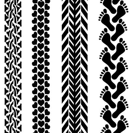Fondo transparente de diferentes pistas negras Foto de archivo - 23498758