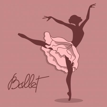 ballerina danza classica: Illustrazione di ballerina con tut� floreale Vettoriali