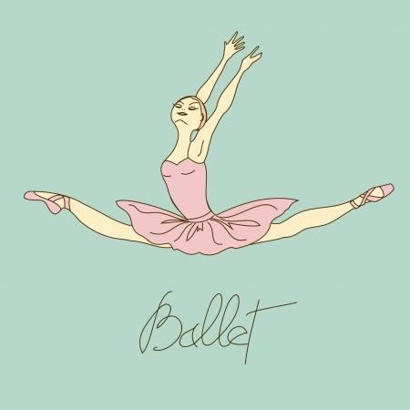 poise: Ilustraci�n con el bailar�n de ballet en pose