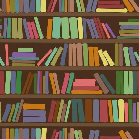 libros: Patr�n transparente de estante de biblioteca con los libros