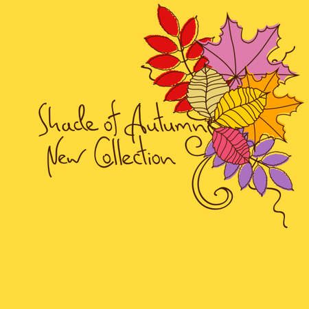 autumn leaves background: Colorful autumn background with leaves Illustration