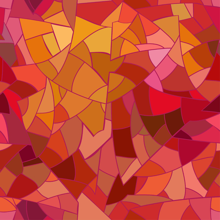 Seamless pattern of abstract geometric mosaic
