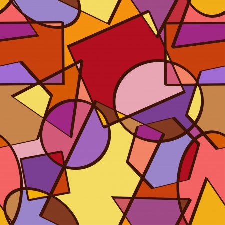 Seamless pattern of colorful geometric figures Vector