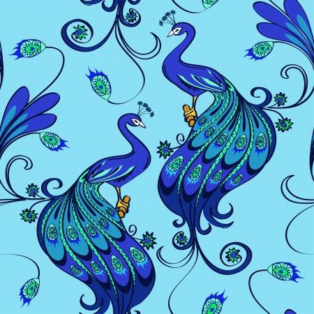 decoracion boda: Modelo incons�til de los hermosos pavos reales azules m�gicos
