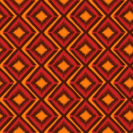 Bright ethnic tribal geometric seamless pattern Vector