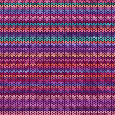 Colorful melange knitted seamless pattern Vector