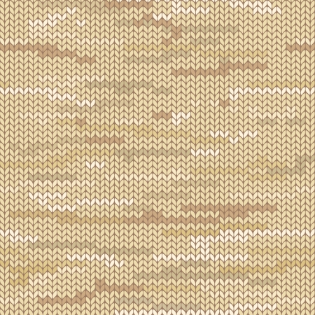 knitted fabrics: Beige melange knitted seamless pattern