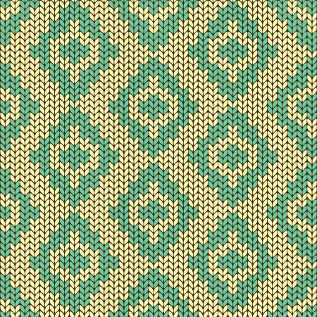 Ethnic knitted seamless pattern with rhombus Vector