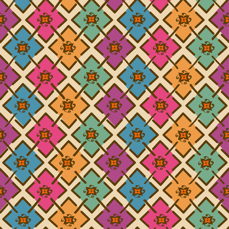 Colorful ethnic tribal geometric seamless pattern Vector