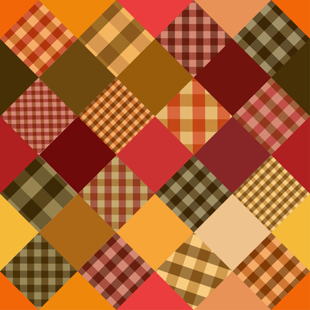 Seamless background of Scottish checkered pattern patchworks Vector