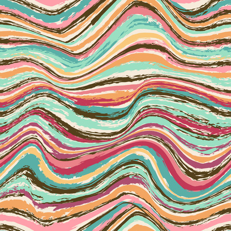 Abstract hypnotic colorful wavy seamless pattern Vector