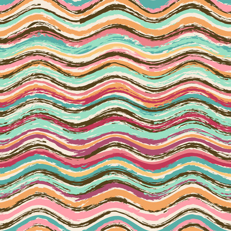 Abstract colorful wavy seamless pattern Vector