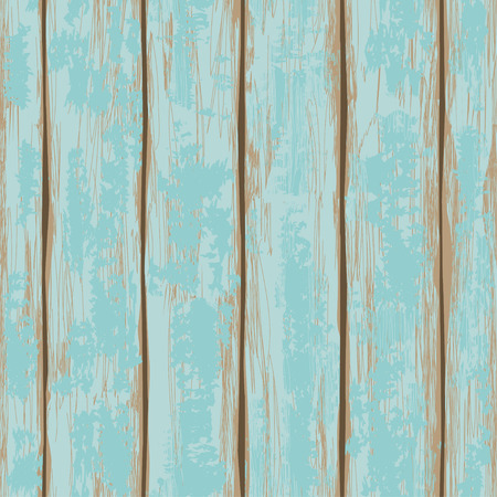 Seamless pattern of old blue painted wooden boards Vector