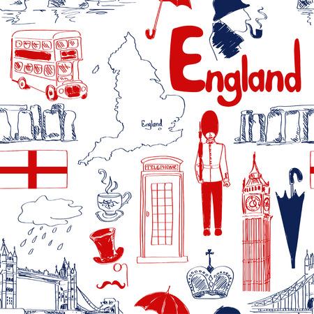 Pretschets Engeland naadloos patroon