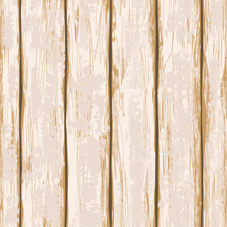 Seamless pattern of old beige painted wooden boards Illustration