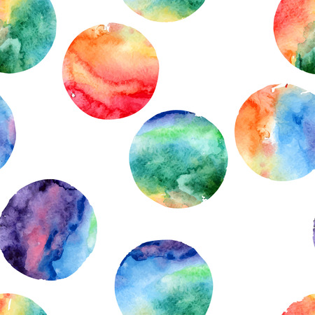 modern art painting: Vector abstract seamless pattern of watercolor circles