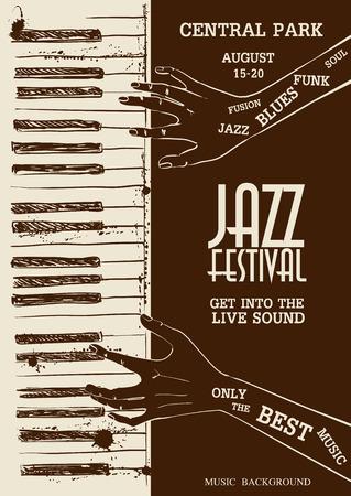 Schets illustratie van menselijke handen piano spelen. Muzikale creatieve uitnodiging. Stockfoto - 36994579