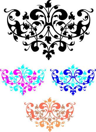 colorful vignettes on a white background Illustration
