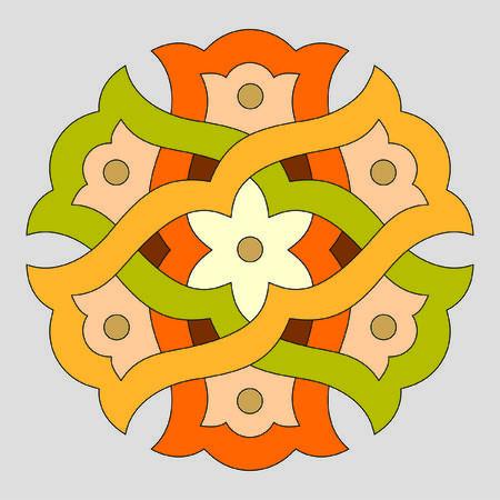 twisted gekleurde cirkel op een grijze achtergrond Stock Illustratie