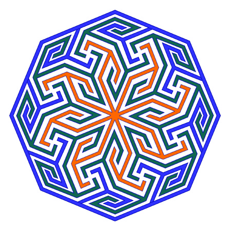 twisted colored circle on a white background