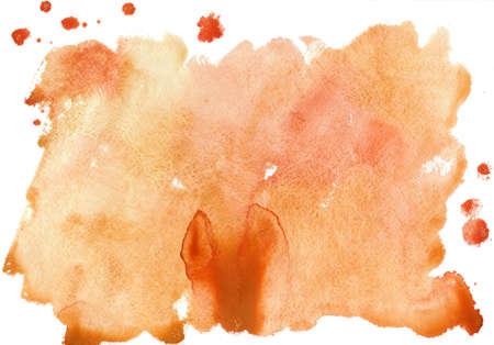 beige aquarel vlek op een witte achtergrond Stockfoto