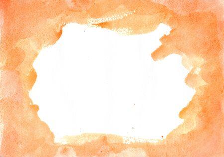 beige aquarel vlek op een witte achtergrond