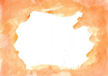 beige watercolor stain on a white background