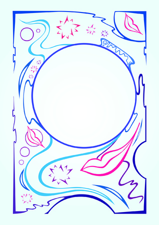 vector van decoratieve randen voor uw tekst