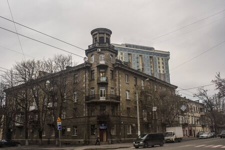 architectonics: old building in the city of Odessa