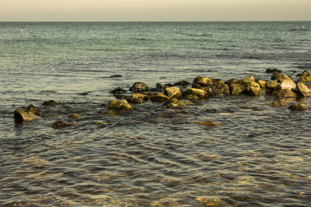 gauzy: protruding rocks on the surface of the sea
