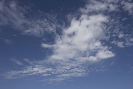 eddy: light blue beautiful sky with white clouds Stock Photo