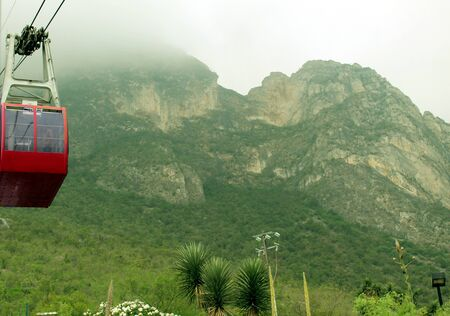 485000View of green mountains and cable car in Garcia