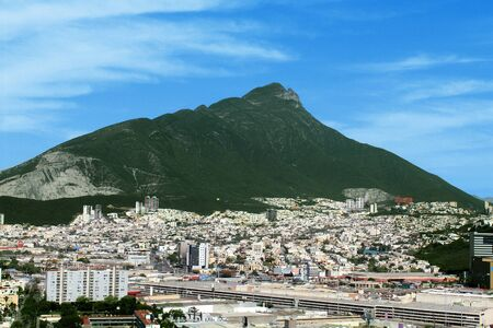 View of the City of Monterrey a summer day