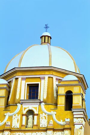 Ancient building dome of Catholic monks taken in Mexico
