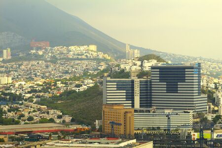 View of Hospital immersed in the city in Monterrey Mexico