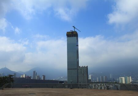 View of the Buildings Under Construction in Monterrey from the Flagpole